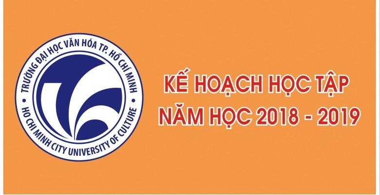 Kế hoạch tổ chức đăng ký học tập học kỳ I, năm học 2018 - 2019